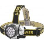 Фонарь STAYER STANDARD налобный светодиодный, 19LED, 4 режима, 3ААА