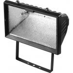 Прожектор галогеновый СВЕТОЗАР с дугой крепления под установку, цвет черный, 1500Вт