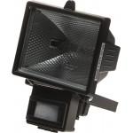 Прожектор галогеновый СВЕТОЗАР с датчиком движения, с дугой крепления под установку, цвет черный, 500Вт