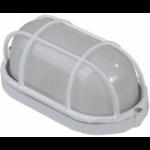 Светильник уличный СВЕТОЗАР влагозащищенный с решеткой, овал, цвет белый, 100Вт
