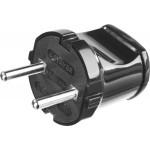 Вилка STAYER MASTER электрическая, 6А/220В, черная