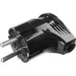 Вилка STAYER MASTER электрическая, с заземлением, угловая, 16А/220В, черная