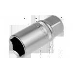 Торцовая головка ЗУБР МАСТЕР 27728-21 свечная с резиновой вставкой (1/2), Cr-V,  21мм