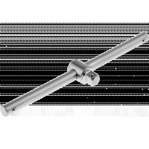 Вороток ЗУБР МАСТЕР T-образный для торцовых головок (1/2), Cr-V, хроматированное покрытие, 250мм