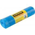 Мешки для мусора STAYER Comfort с завязками, особопрочные, голубые, 120л, 10шт