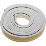 Уплотнитель ЗУБР резиновый самоклеящийся, профиль P, белый, 16м