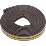 Уплотнитель ЗУБР резиновый самоклеящийся профиль P, коричневый, 6м