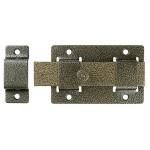 Задвижка накладная ЗД-02 для дверей усилен, порошковое покрытие, цвет бронза, плоский засов 30х135х7мм, 75х115мм
