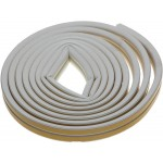 Уплотнитель ЗУБР резиновый самоклеящийся, профиль D, белый, 6м