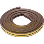 Уплотнитель ЗУБР резиновый самоклеящийся профиль D, коричневый, 6м