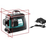 Нивелир лазерный LL-3D, 360 градусов, 20м / 70м (детектор), сверхъяркий, KRAFTOOL 34640, IP54, точн. 0,2 мм/м