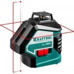 Нивелир лазерный LL360, 360 градусов, 20м / 70м (детектор), сверхъяркий, KRAFTOOL 34645, IP54, точн. 0,2 мм/м, в сумке