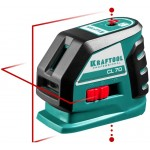 Нивелир лазерный линейный CL-70, 20м / 70м (детектор), сверхъяркий, KRAFTOOL 34660, IP54, точн. 0,2 мм/м