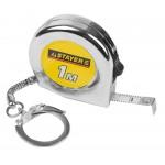 Рулетка-брелок STAYER STANDARD MINI, цвет хромовый, 1мх6мм