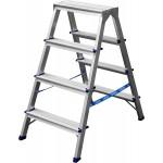 Лестница-стремянка двухсторонняя алюминиевая, СИБИН 38825-04, 4 ступени