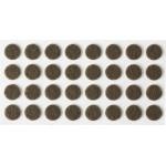 Накладки STAYER COMFORT на мебельные ножки, самоклеящиеся, фетровые, коричневые, круглые - диаметр 10 мм, 32 шт