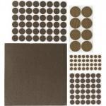 Накладки самоклеящиеся на мебельные ножки STAYER COMFORT, Набор 125 шт, коричневые