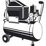 Компрессор воздушный безмасляный с набором аксессуаров, 200 л/мин, 24 л, 1500 Вт, ЗУБР