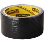 Армированная лента, STAYER Professional 12086-50-10, универсальная, влагостойкая, 48мм х 10м, черная