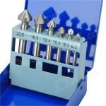Набор ЗУБР Зенкеры ЭКСПЕРТ конусные с 3-я реж. кромками, сталь P6M5, для раззенковки М3, М4, М5, М6, М8, М10