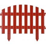 Забор декоративный GRINDA АР ДЕКО, 28x300см, терракот