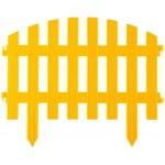 Забор декоративный GRINDA АР ДЕКО, 28x300см, желтый