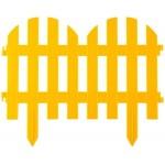 Забор декоративный GRINDA ПАЛИСАДНИК, 28x300см, желтый