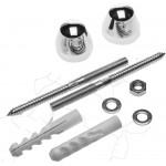 Набор для крепления раковин и писсуаров, диаметр предварительного сверления - 14 мм, цвет xром, ЗУБР Профессионал 44221