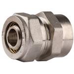 Соединитель ЗУБР с внутренней резьбой, цанга-гайка, 1/2х20х2,0 мм, никель