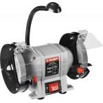 Станок ЗУБР ЗТШМ-150-250 точильный двойной, D150х20хd32мм, лампа подсветки, 250Вт